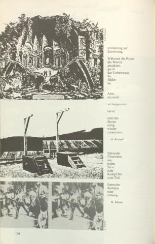 S. 120 aus »Nacht im Feuer« mit Zitaten von Antonin Artaud und Holger Meins (zum Vergrößern das Bild anklicken)