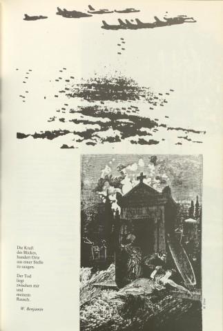 S. 119 aus »Nacht im Feuer«: Zitat von Walter Benjamin (zum Vergrößern Bild anklicken)