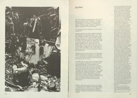 S. 254/255 aus »Nacht im Feuer«: Quellenverzeichnis (zum Vergrößern Bild anklicken)